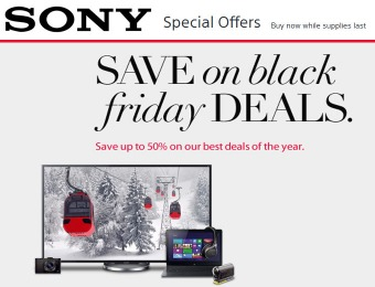 Sony Black Friday Deals - Save up to 50% on their best deals of the year!