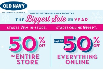 Old Navy Black Friday Deals - 50% off Everything
