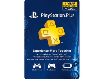 40% off Sony PlayStation Plus 12-Month Subscription Card