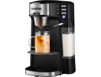 $50 off Gourmia Single Serve K-Cup Pod Coffee Maker with Frother