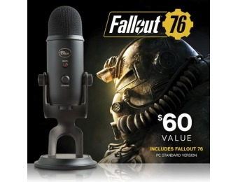 $60 off Blue Microphones Blackout Yeti USB Mic + Fallout 76 Bundle