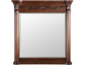 "$238 off Belle Foret Estates 38"" L x 36"" W Wall Mirror in Rich Mahogany"