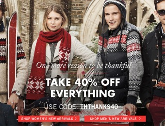 Take 40% off Everything! Black Friday 40% off Coupon Code