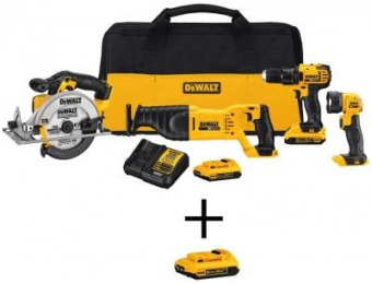 $239 off DeWalt 20-Volt MAX Lithium-Ion Cordless Combo Kit