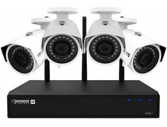 $180 off Defender 4-Cam Wireless 4.0MP 1TB NVR Surveillance System