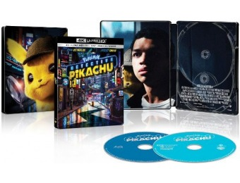 $10 off Pokémon Detective Pikachu [SteelBook] 4K Ultra HD Blu-ray