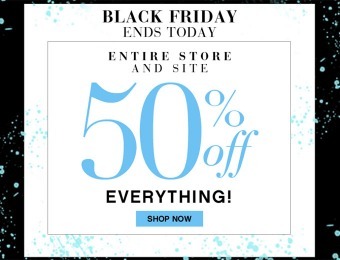 50% off Entire Site + Additional 50% off Clearance