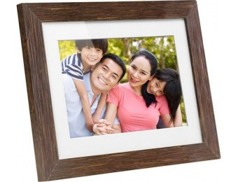 "$20 off Aluratek 8"" LCD Digital Photo Frame - Distressed Wood"
