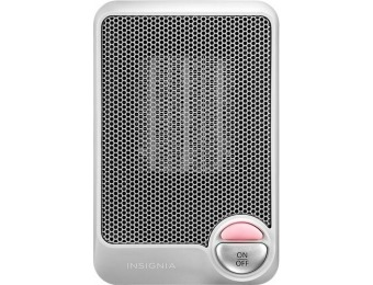 50% off Insignia Desktop Ceramic Heater - Flat gray
