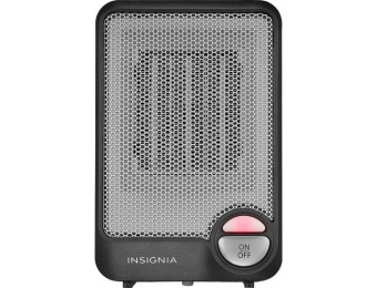 50% off Insignia Desktop Ceramic Heater - Flat black