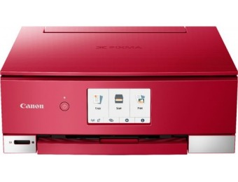 $130 off Canon PIXMA TS8220 Wireless All-In-One Printer - Red
