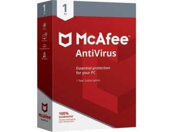 63% off McAfee AntiVirus (1-Year Subscription) - Windows