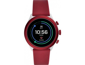 $126 off Fossil Sport Smartwatch Aluminum - Dark Red with Maroon