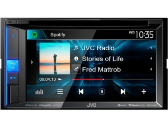 "$80 off JVC 6.2"" Bluetooth In-Dash DVD Receiver"