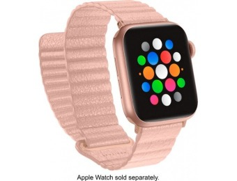 88% off Platinum Leather Band for Apple Watch 38/40mm - Light Pink
