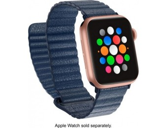 88% off Platinum Leather Band for Apple Watch 38/40mm - Navy Blue