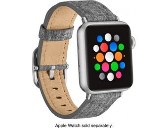 63% off Platinum Fabric Apple Watch 38/40mm Strap - Light Gray