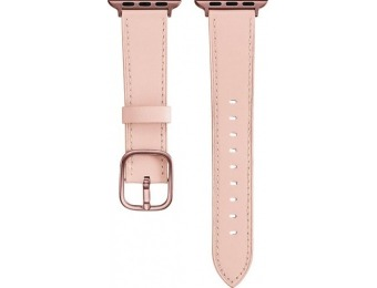 63% off Platinum Leather Apple Watch 38/40mm Strap - Pink