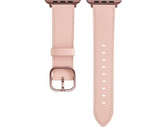 63% off Platinum Leather Apple Watch 42/44mm Strap - Pink
