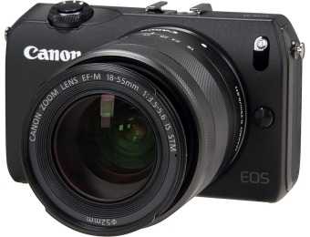 $370 off Canon EOS M Mirrorless Compact System Camera 18-55mm