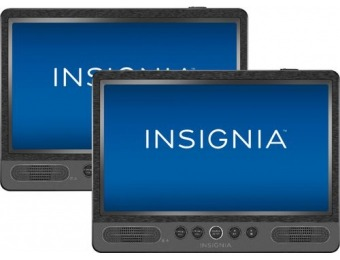 "$60 off Insignia 10"" Dual Screen Portable DVD Player"