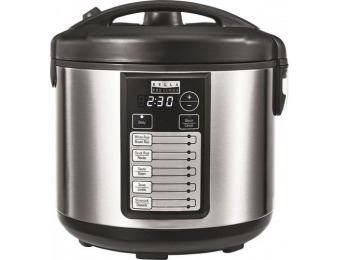 40% off Bella Pro Series 20-Cup Rice Cooker - Stainless Steel