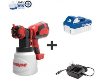 $59 off Sun Joe 24-Volt Cordless HVLP Handheld Paint Sprayer Kit