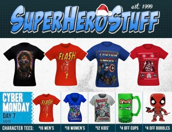 SuperHeroStuff Cyber Monday Sale - T-shirts for men, women & kids