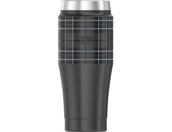 60% off THERMOS 16-Oz Travel Tumbler - Gray Plaid