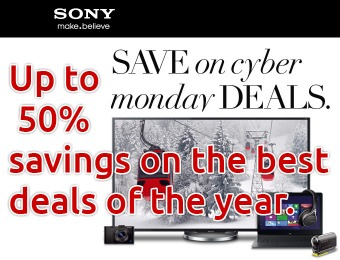 Cyber Monday Deals - Up to 50% off Sony products