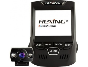 $30 off Rexing V1P Plus Front and Rear Camera Dash Cam