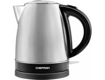 50% off CHEFMAN 1.7L Electric Kettle - Stainless Steel