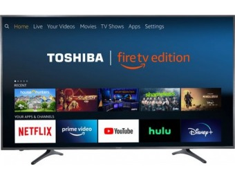 "$220 off Toshiba 65"" LED Smart 4K UHD TV - Fire TV Edition"