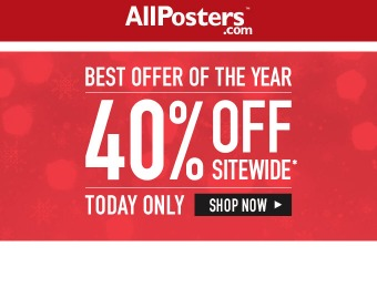 Cyber Monday Deal - 40% off Everything at Allposters.com