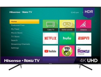 "$120 off Hisense 55"" LED R6070E3 Smart Roku TV 4K UHD TV"