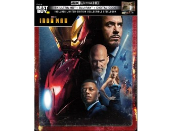 $25 off Iron Man [SteelBook] (4K Ultra HD Blu-ray/Blu-ray)