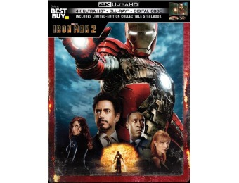 $20 off Iron Man 2 [SteelBook] (4K Ultra HD Blu-ray/Blu-ray)