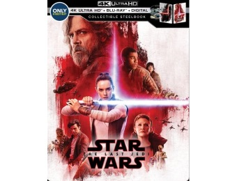 $18 off Star Wars: The Last Jedi [SteelBook] (4K Ultra HD Blu-ray)