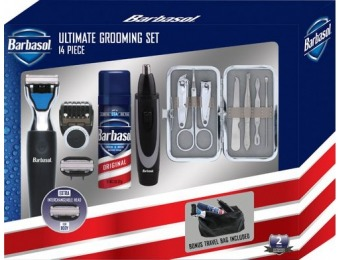 50% off Barbasol Rechargeable Electric Shaver Grooming Kit
