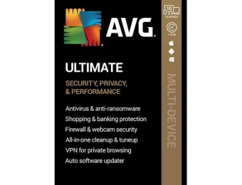 $75 off AVG Ultimate (10 Devices) - Android|Mac|Windows