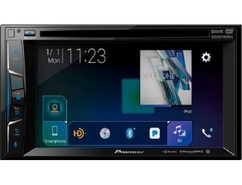 "$120 off Pioneer 6.2"" Bluetooth In-Dash CD/DVD/DM Receiver"