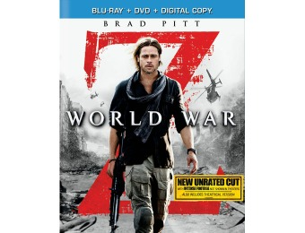 $32 off World War Z (Blu-ray + DVD + Digital Copy)