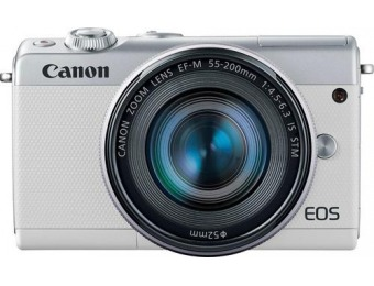 $550 off Canon EOS M100 Mirrorless Camera Two Lens Kit