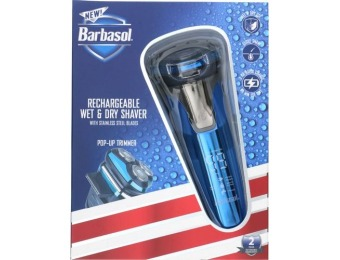 $15 off Barbasol Rechargeable Wet/Dry Rotary Electric Shaver