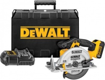 $113 off DeWalt 20V MAX Lithium-Ion Cordless Circular Saw Kit