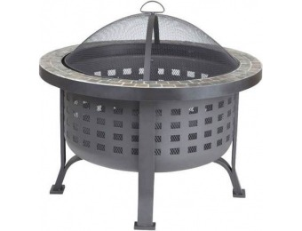 $74 off Fire Sense Alpina Round Slate Top Fire Pit