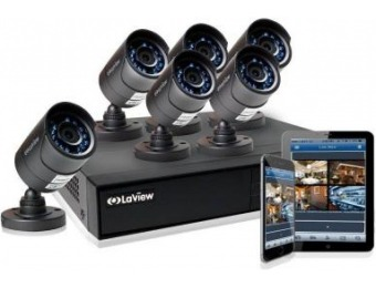 $305 off LaView 8-Ch 720P 1TB HDD Indoor/Outdoor Surveillance System