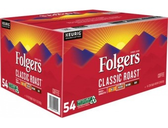$20 off Folger's Classic Roast Coffee Pods (54-Pack)
