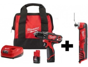 "$69 off Milwaukee M12 3/8"" Drill/Driver Kit with Multi-Tool"