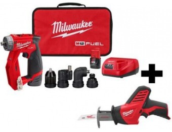 $89 off Milwaukee M12 Brushless 4-in-1 Drill Driver Kit with Hackzall